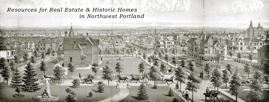 1888 Portland, Oregon - The Metropolis. Published in West Shore Magazine. Looking towards Mt. Hood from NW 18th and NW Davis. Licensed and used with permission by the Oregon Historical Society.